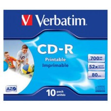 CD VERBATIM PRINT 700MB 10U