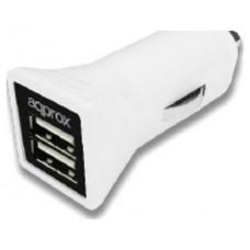 CARGADOR USB DUAL PARA COCHE 3.1A WHITE APPROX