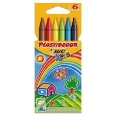 CERA PLASTICA BIC PLASTIDECOR 6UDS