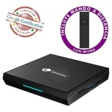 ANDROID TV BOX GCX2 216 4K QUADCORE (16+2 GB) CERTIFICADO GOOGLE LEOTEC