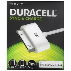 CABLE DURACELL USB A APPLE 30P BL
